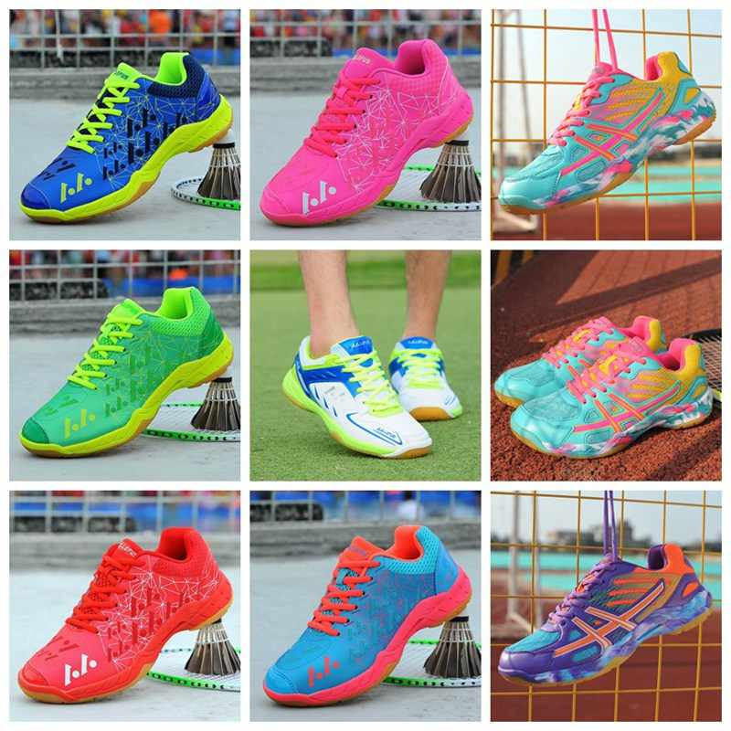 Hot Couple Badminton Shoes Men Light Breathable Professional Training Shoe Women Girl High Quality Sneakers Adult Kids Ball shoe