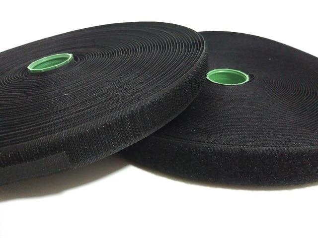 2Rolls/set 2cm width sew on Hook and Loop fastening tape for clothing White or Black not self adhesive hook loop fabric