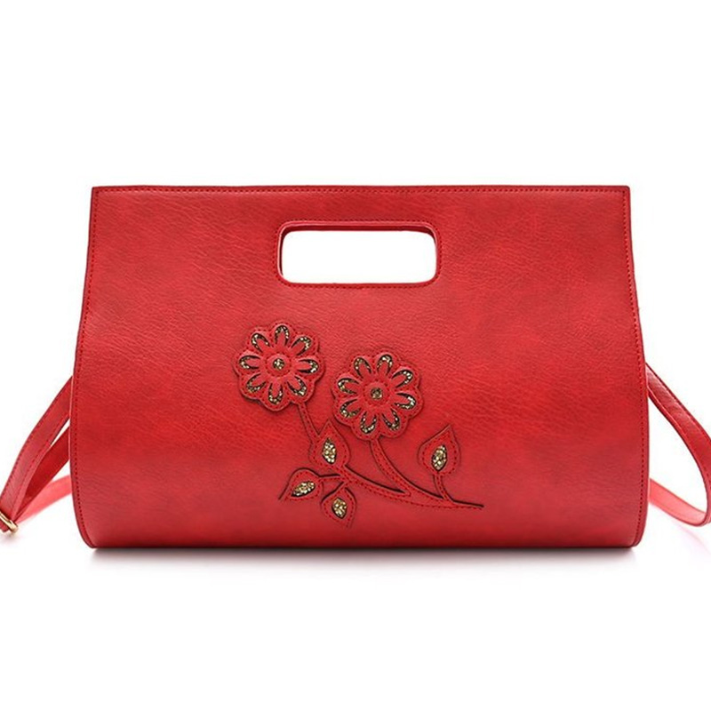 Us 14 89 40 Off Women Bag Female Handbags Leather Over Shoulder Crossbody High Quality Handbag Hollow Out Red Diamond Envelope Tote Bags In