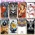 TAOYUNXI Hard Plastic Soft TPU Phone Cover For Huawei GR5 Honor 5X Honor Play 5X Mate 7 Mini Cases Skull Cute Animal Hood