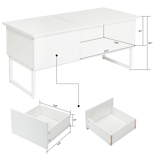 Modern Lift Top Coffee Table With Storage Drawer Functional Tea - Lift top coffee table with storage drawers
