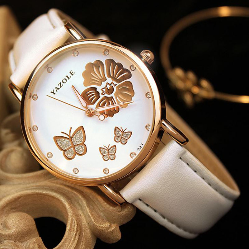 2019 Women's Watches YAZOLE Butterfly Ladies Watch Luxury Watches Women Clock Fashion Sculpture Relogio Feminino Bayan Kol Saati