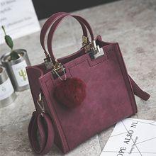 2018 new PU Ladies handbag, fashion Messenger Bag, Retro Korean Version Of  the Female 1303aac1a5
