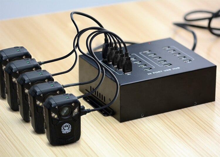 Sipolar 20-port USB 2.0 Hub Bitcoin Mining hub or Police Body Camera hub
