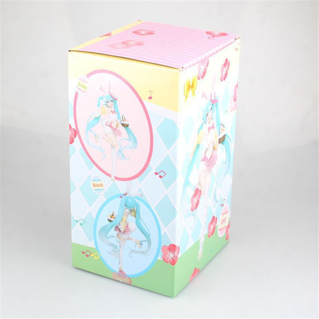 Hatsune Miku Action Figure Four Seasons Bunny Ears Spring Ver PVC Kawaii Toys Kids Gift Model Figma Doll Anime Miku Vocaloid PM