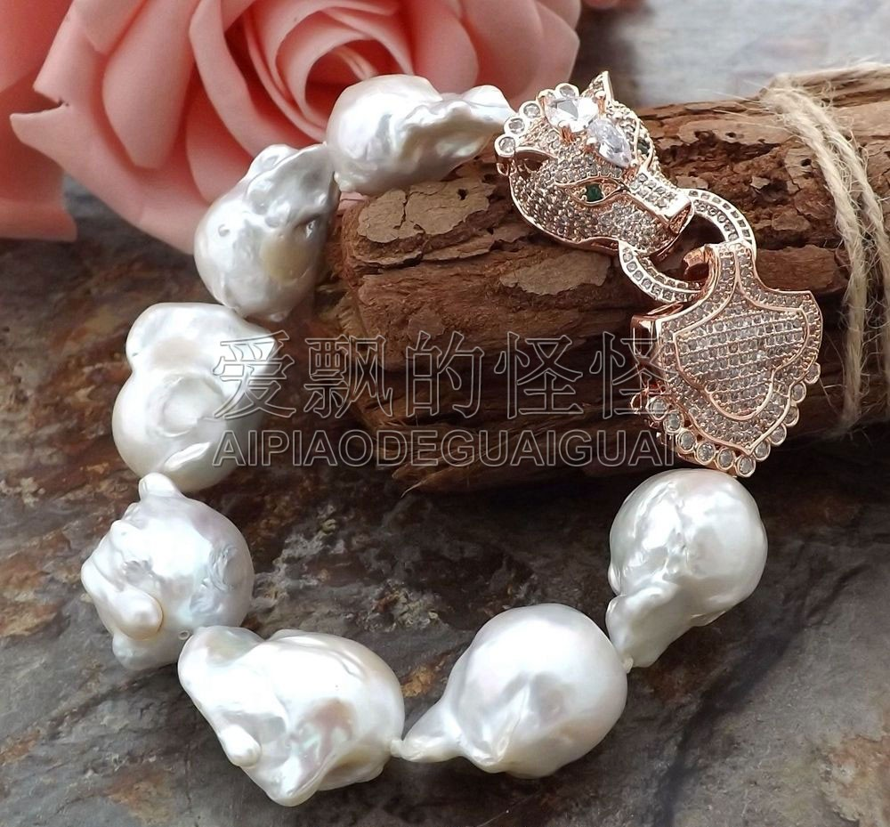 B052511 9 White Keshi Pearl BraceletB052511 9 White Keshi Pearl Bracelet