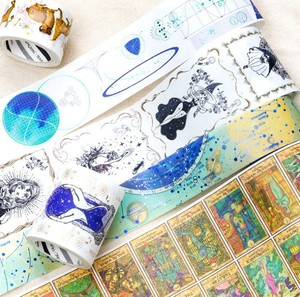 Magical universe mysterious divination wizard Animal plants Astrolabe Vintage Gilding decoration washi Tape DIY masking tape(China)