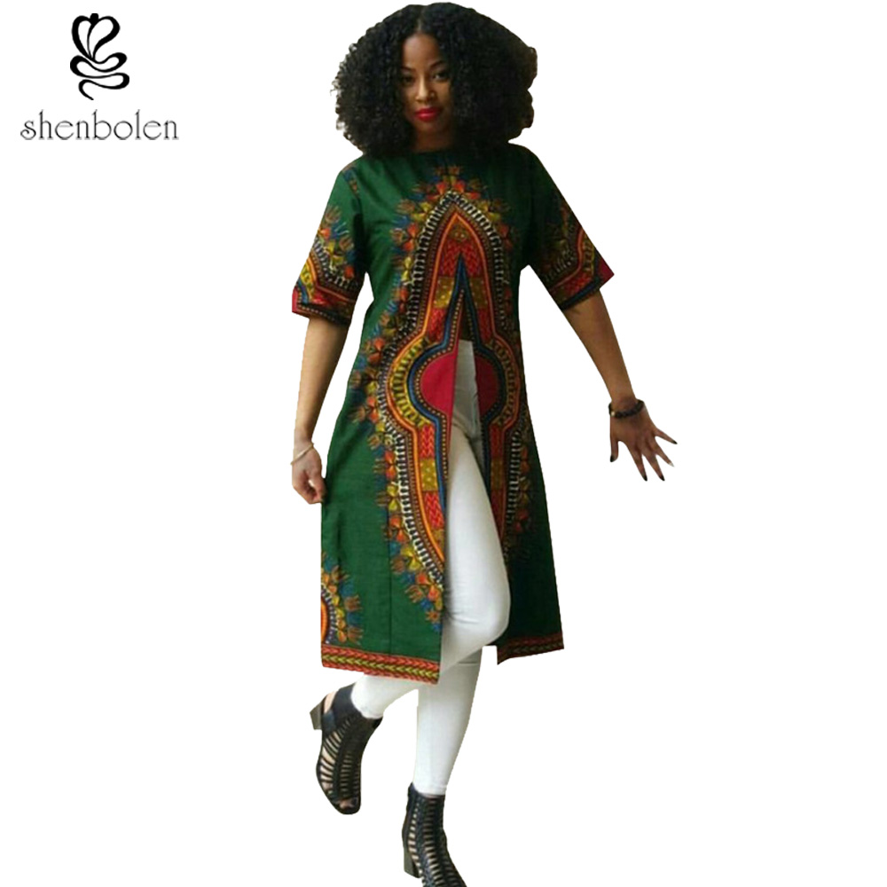 African Women Fashion: 2017 African Dresses For Women Dashiki Ankara Wax Printing