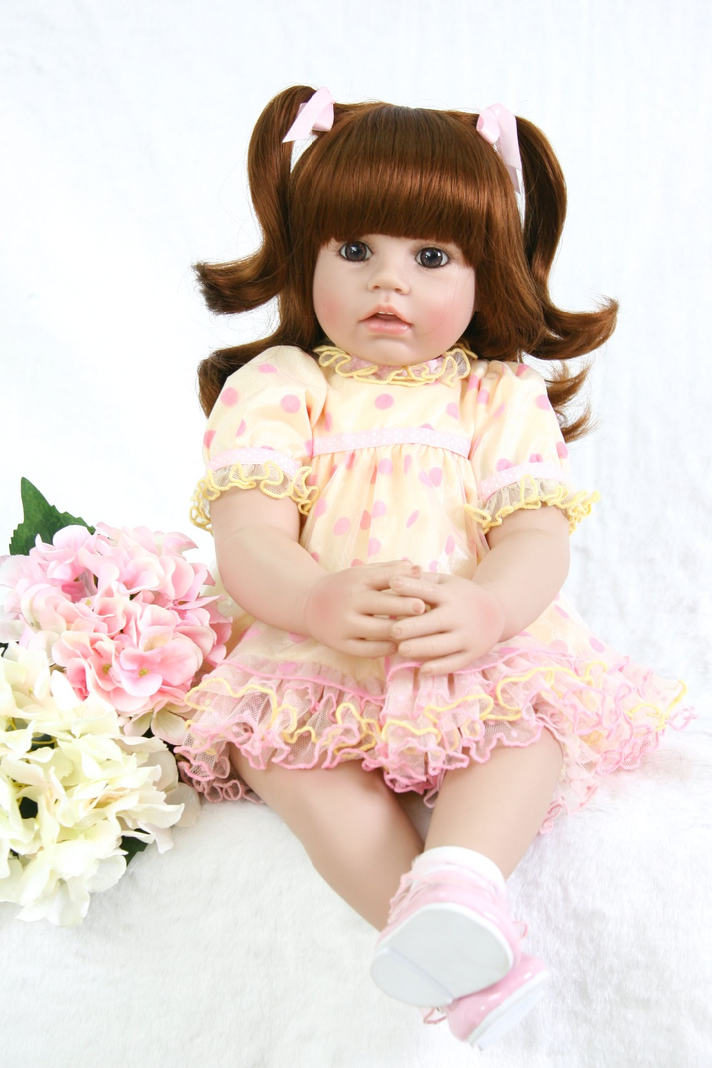 24 Silicone Reborn Baby Doll Toys Like Real Vinyl handmade lovely Princess Toddler Babies Dolls Girls Bonecas toys 24 Silicone Reborn Baby Doll Toys Like Real Vinyl handmade lovely Princess Toddler Babies Dolls Girls Bonecas toys