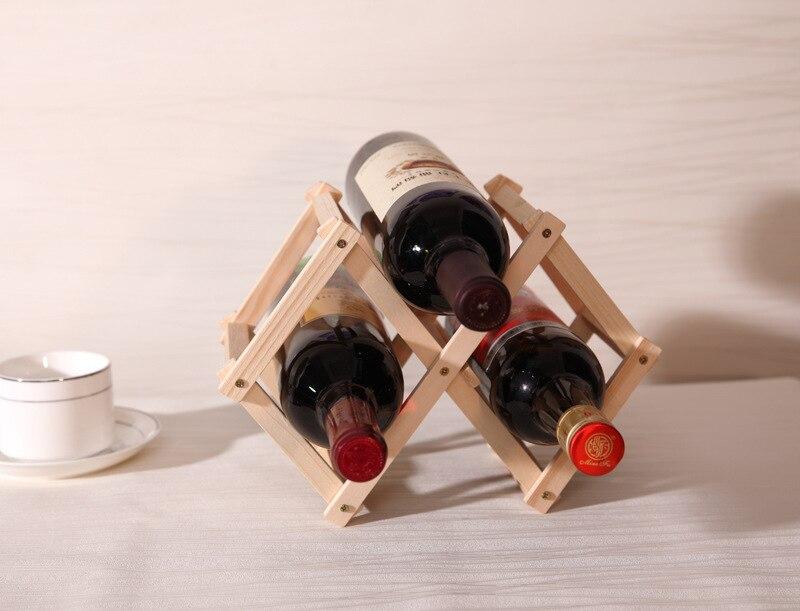 Kühlschrank Organizer Flaschen : Gute qualität nahtlose massivholz faltbare weinhalter flaschen