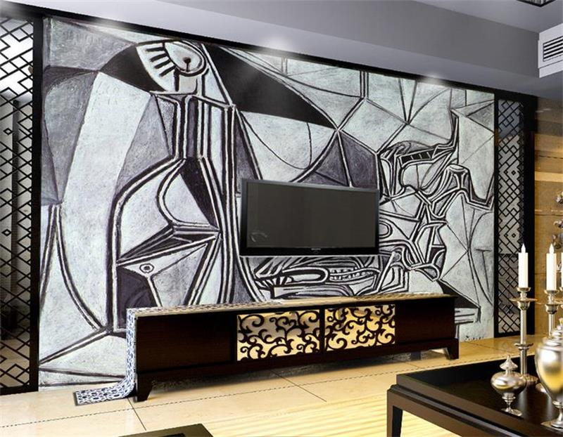 3D wallpaper/custom photo HD mural/Picasso/Black white painting/background murals/Kids' Room/TV/sofa/bedding/Hotel/living room бабушкино лукошко яблочно виноградный 200 г