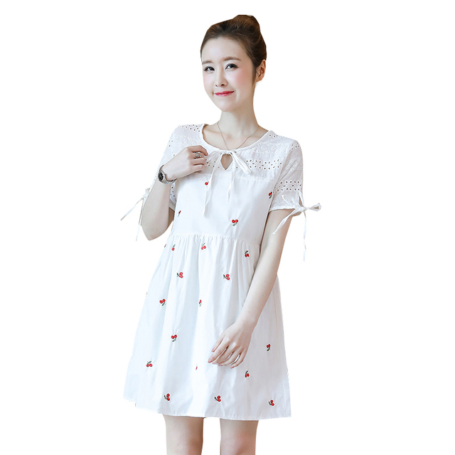 Hot Sale 2018 Summer New Arrival Maternity Dress Cotton Sweet Plus Size  Dress Clothes for Pregnant 3ef4a0737c1e