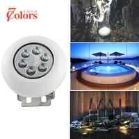 Boat Marine LED Underwater Light DC12V 18W IP68 Waterproof LED Outdoor Lighting For Swimming RGB