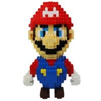Creative Children Toys Green Plastic Spell Plug Mary Brothers Children's Educational Toys Mario Cartoon Blocks Birthday Gifts