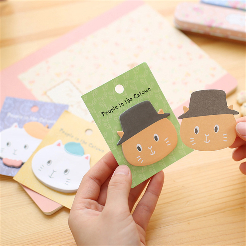 DL Angola Town Post cartoon cat stationery creative message N stickers pad K1021-4 Exquisite office supplies small gift
