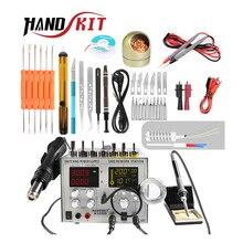 Handskit 4 в 1 DC 5 В 2A источник питания 30 в 5A фена паяльная станция+ 110 В/220 В паяльник USB зарядка паяльник