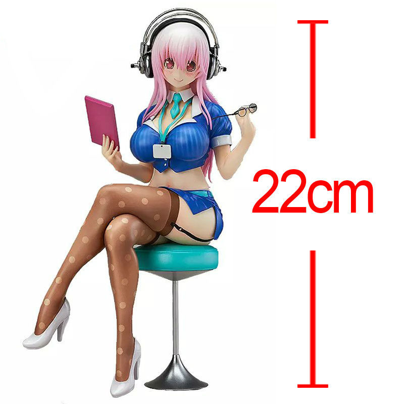 Anime Super Sonic the Animation SUPERSONICO PVC Action Figure Doll Sexy Girl Collectible Model Toy 22cm New in box Brinquedos anime cardcaptor sakura figma kinomoto sakura pvc action figure collectible model toy doll 27cm no box