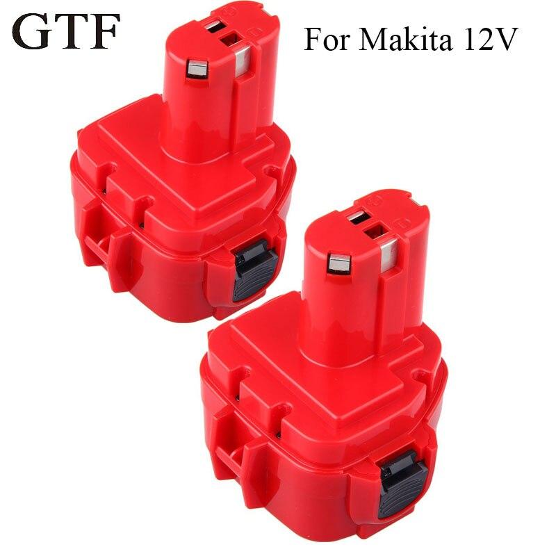 GTF 12V Ni-CD 2.0AH Replacement Battery for MAKITA 1220 1222 1233 1234 192681-5 Batteries Cordless Drill Power Tool Screwdriver