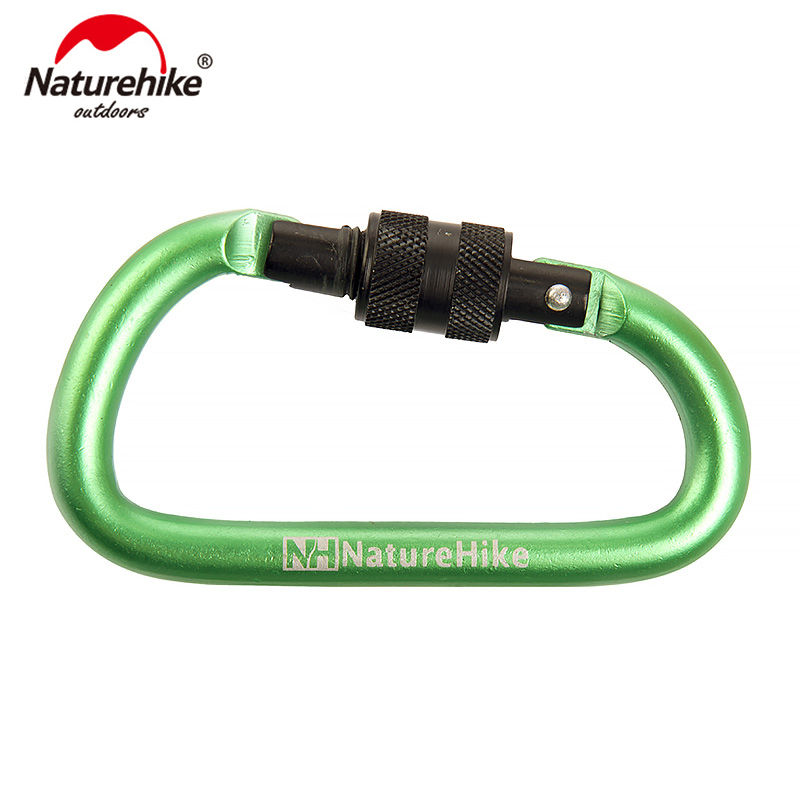 NatureHike Multicolo 6cmD-shaped Aluminum Alloy  Hiking Climb Carabiner Hook Quick Release Hanging Buckle