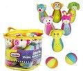 Estilo animal de la historieta 6 botella + 2 bolas De Bolos Juego De Pelota de juguete de felpa Bebé niños deporte Intelectual campaña juego interactivo regalo