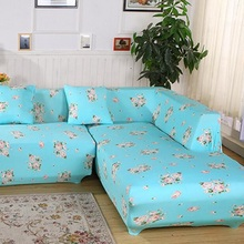 Modern Simple Flower Chaise Sofa Cover Big Elasticity Flexible Couch Cover  Loveseat Sofa Funiture Cover Machine Washable