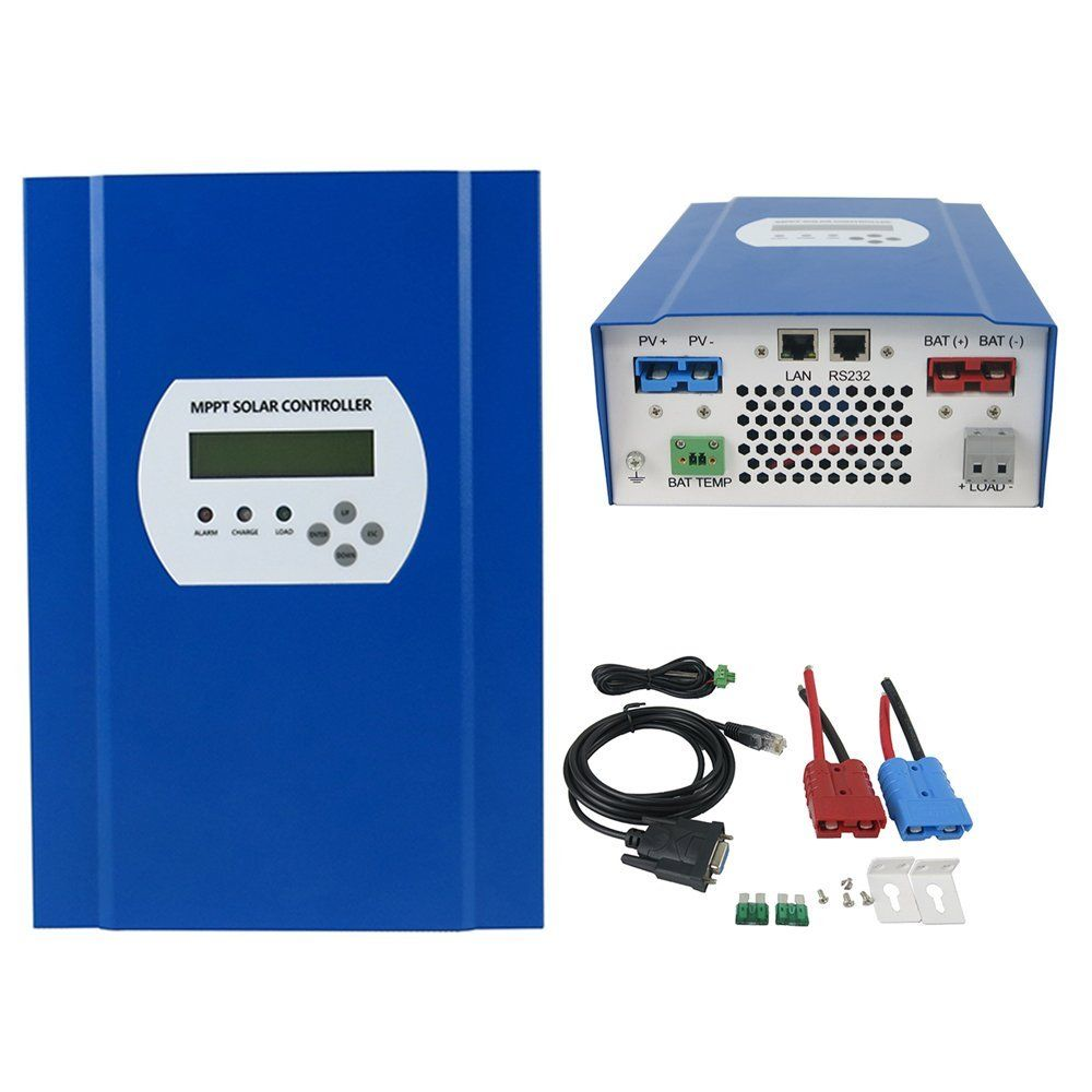 MPPT solar charge controller 60A 12V 24V 48V auto work LCD with RS232 LAN communication Max