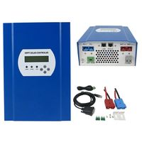 MPPT solar charge controller 60A 12V/24V/48V auto work LCD with RS232 & LAN communication,Max 150V DC Input with load control
