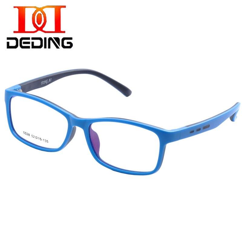 28dd24c391de8 Deding اختراقها أطفال سيليكون مستطيل مرنة النظارات الإطار الحجم 52 ، نظارات  للبنات بنين الأطفال الطلاب DD1388