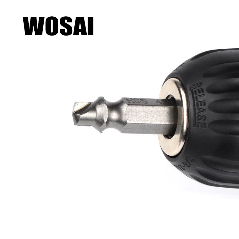 WOSAI HHS Steel 4Pcs Extractor de tornillos Juego de guías de brocas - Accesorios para herramientas eléctricas - foto 5