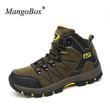 Mangobox 2017 г. противоскользящие кожа Пеший Туризм Ботинки Для мужчин удобные восхождение Mountain Ботинки Для мужчин S амортизирующие Ботинки открытый Для мужчин
