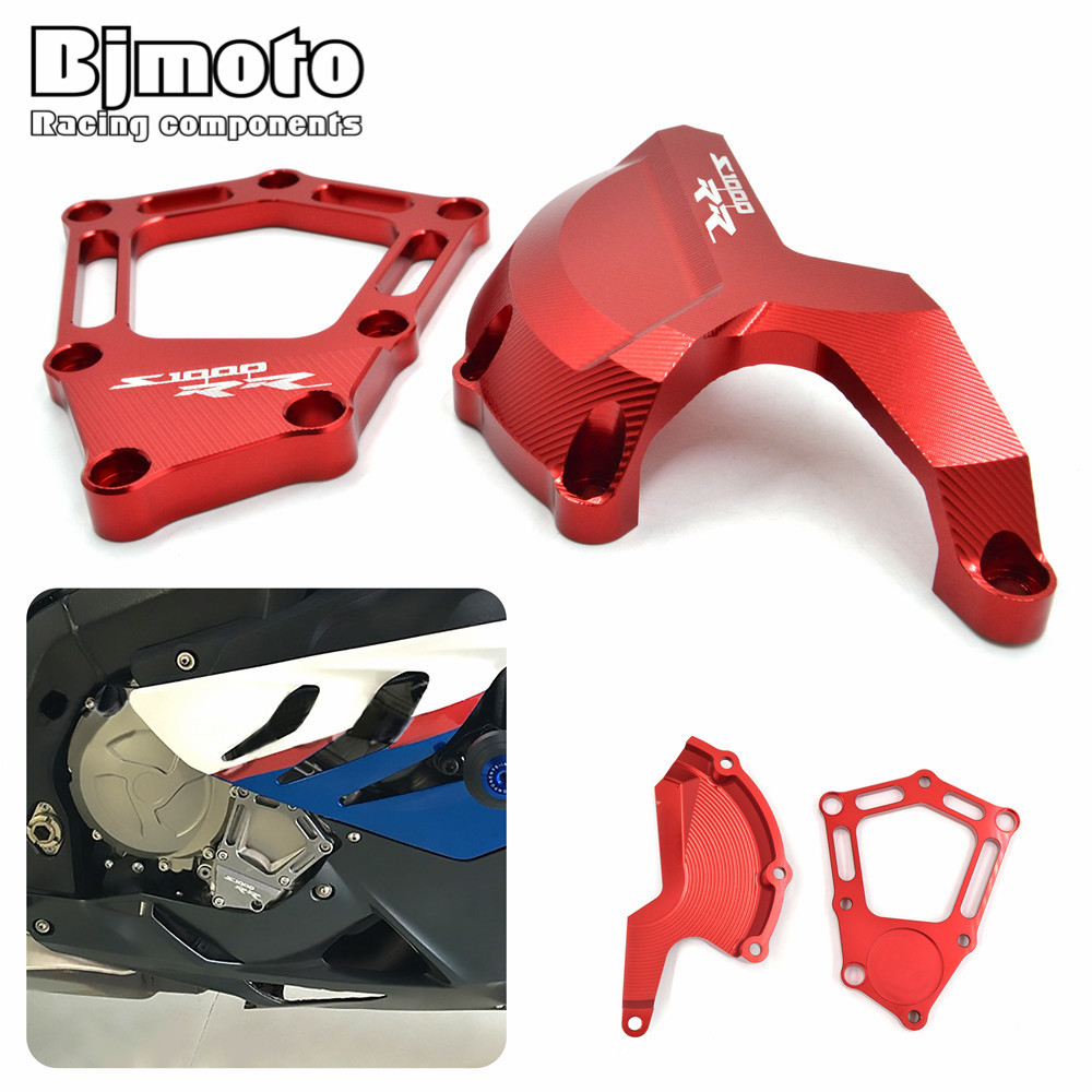 Bjmoto Motorcycle Engine Saver Stator Case Cover Slider Protector Guard For BMW S1000RR 2010-2016 S1000R 2014-2016 HP4 2012-2016