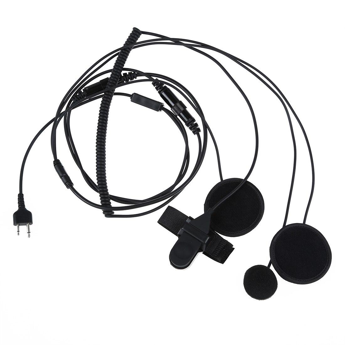 2 pin two-way radios Full-face motorcycle moto bike helmet headset earphone microphone for Icom Maxon Yaesu vertex 1000m motorcycle helmet intercom bt s2 waterproof for wired wireless helmet