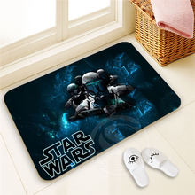 Fashionable Custom star wars Doormat  Home Decor 100% Polyester Pattern Door mat Floor Mat foot pad SQ00722-@H0685