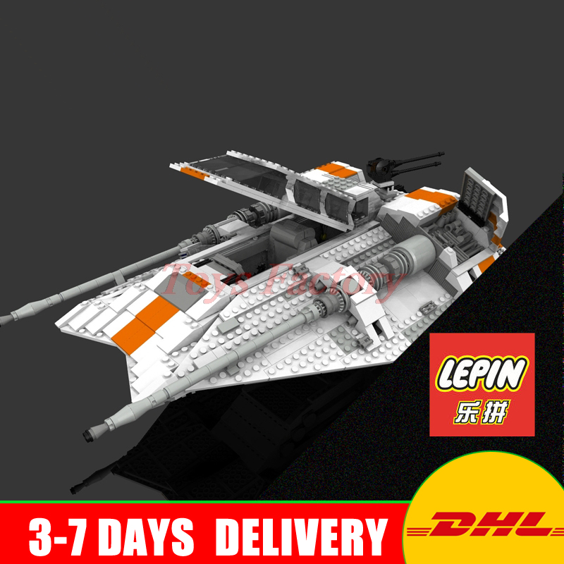 IN Stock Lepin 05084 UCS Series The Rebel Snowspeeder Set Educational Building Blocks Bricks Boy Toys Model Gifts 10129 in stock xingbao 09005 1627pcs blocks series the castle of holy war set educational building blocks bricks boy toys model gifts