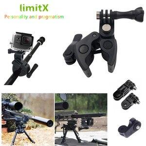 Image 1 - Gun Angelrute Bogen Pfeil Clamp für XIAOMI Mijia Panorama 360 Mi Kugel Camcorder/Mijia Mini 4 Karat Action kamera