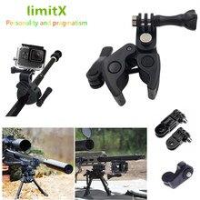 ปืนคันเบ็ดโบว์ลูกศรหนีบสำหรับXIAOMI Mijiaพาโนรามา360 Miทรงกลมกล้องวีดีโอ/Mijiaมินิ4พันการกระทำกล้อง