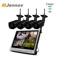 Jennov Wireless Security Camera System 8CH 1080P 12 LCD NVR 2.0MP Outdoor Audio CCTV Wifi Camera Video Surveillance System Kit