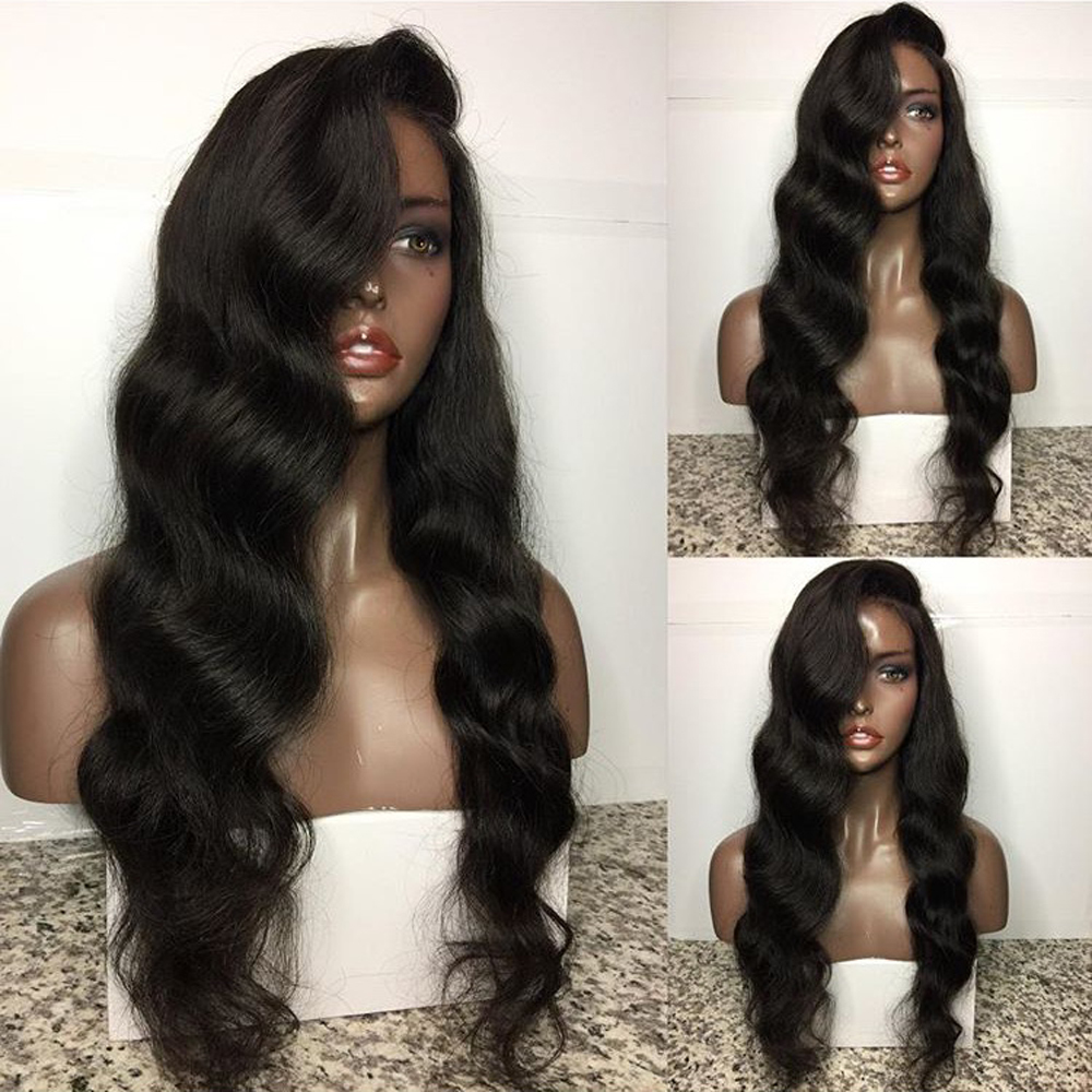 Eversilky 26 Inches Long Body Wave 360 Lace Frontal Wig Pre Plucked Human Hair Wigs With Bleached Knots Lace Frontal Wigs
