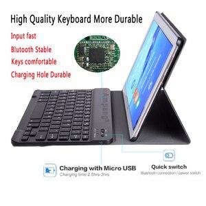Image 3 - Bluetooth Tastatur Fall für Huawei Mediapad M5 Lite 8 8,0 JDN2 W09 JDN2 AL00 Fall Tastatur für Huawei M5 Lite 8 Abdeckung funda + Stift