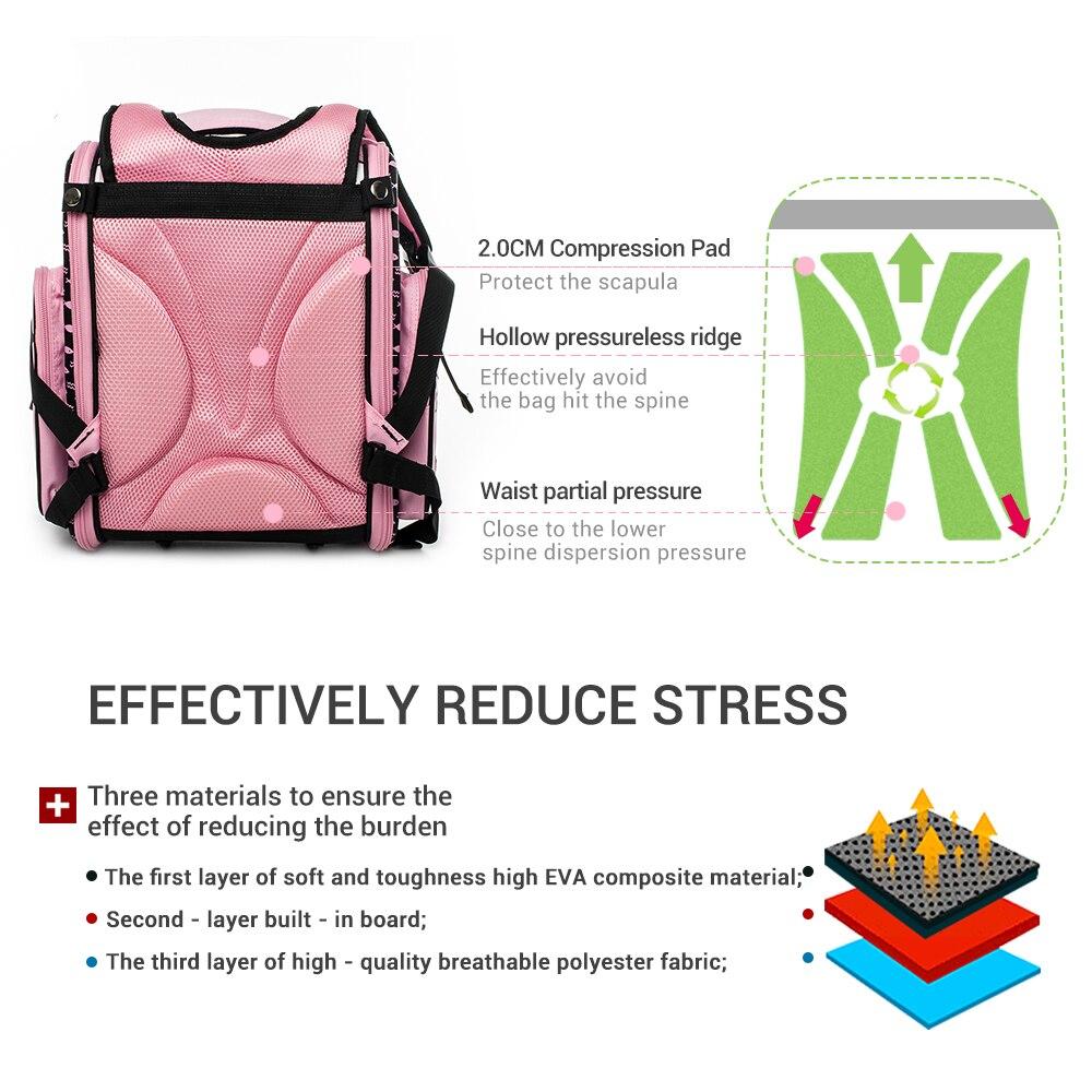 Delune Brand Kids New Cartoon Cat School Bags for Girls Child Waterproof Grade 1 3 Orthopedic School Backpacks Mochila Infantil-in School Bags from Luggage & Bags    3