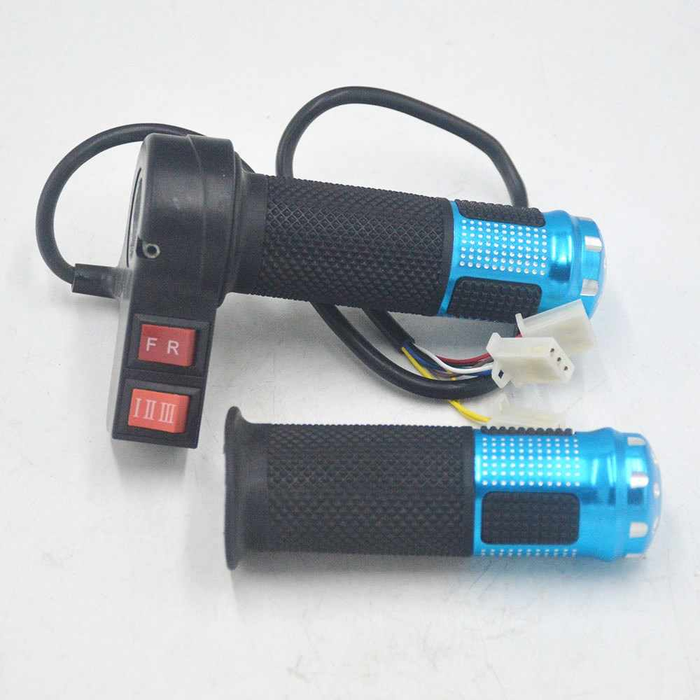 24V/36/48V/64V/72V electric bicycle throttle with 3 speed controller and forward reverse for ebike/scooter/tricycle