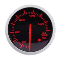 VODOOL 60mm 2.5in Racing Oil Voiture Jauge de Température Blanc + Rouge Lumière D'huile Indicateur Temp Jauges avec Capteur auto-test d'alarme fonction