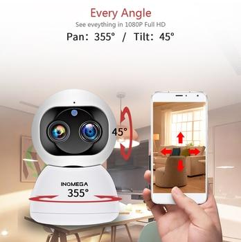 INQMEGA Cloud 1080P 2MP Dual-Lens Wireless IP Camera Wifi Auto Tracking Indoor Home Security Surveillance CCTV Network Camera 6