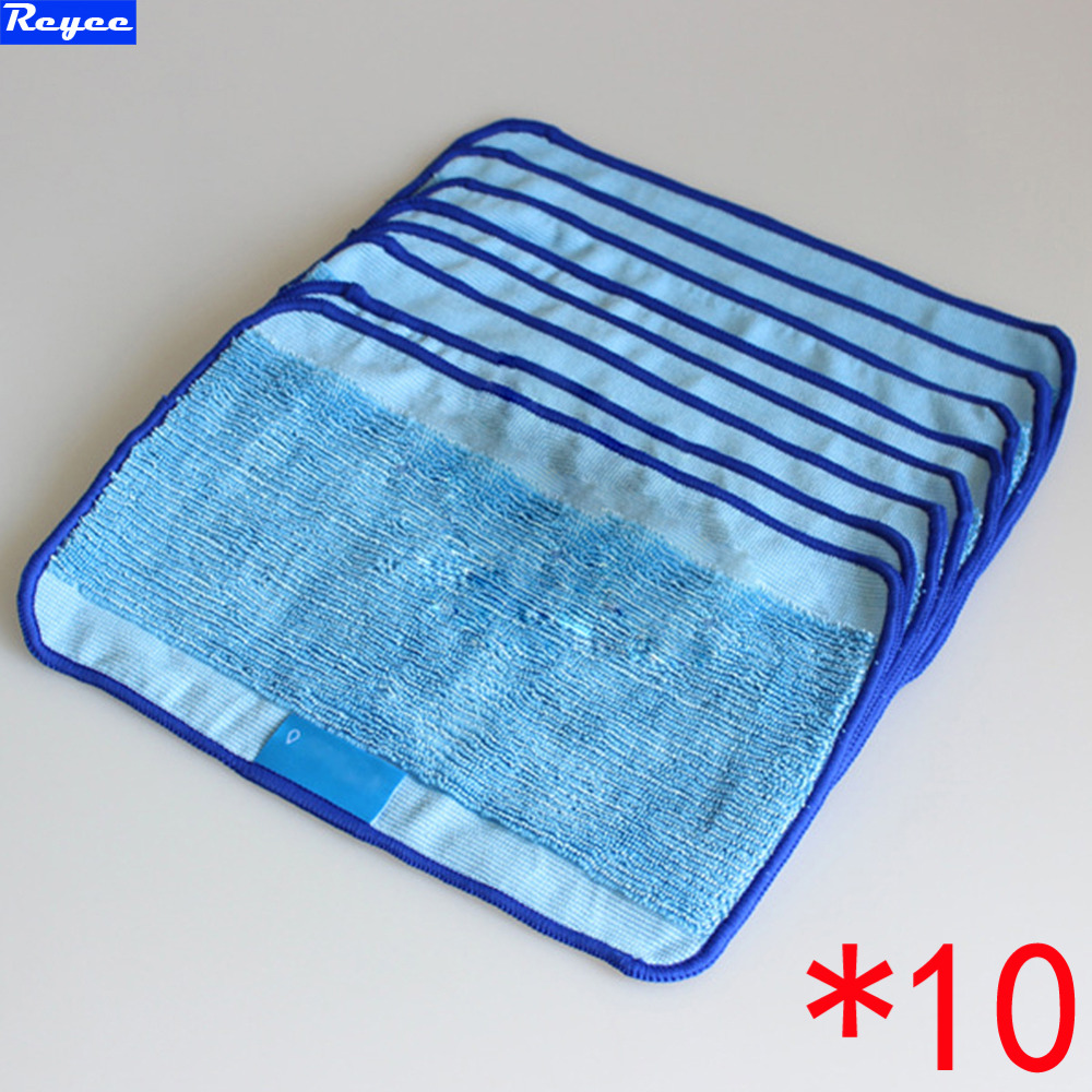 Microfiber 10-Pack Pro-Clean Mopping Cloths for Braava Floor Mopping Robot irobot Braava Minit 4200 5200 5200C 380 380t