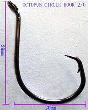 50pcs 2/0 High Carbon Stainless Steel Chemically Sharpened Octopus Circle Ocean Fishing Hooks 7385 Ocean Fish Haak