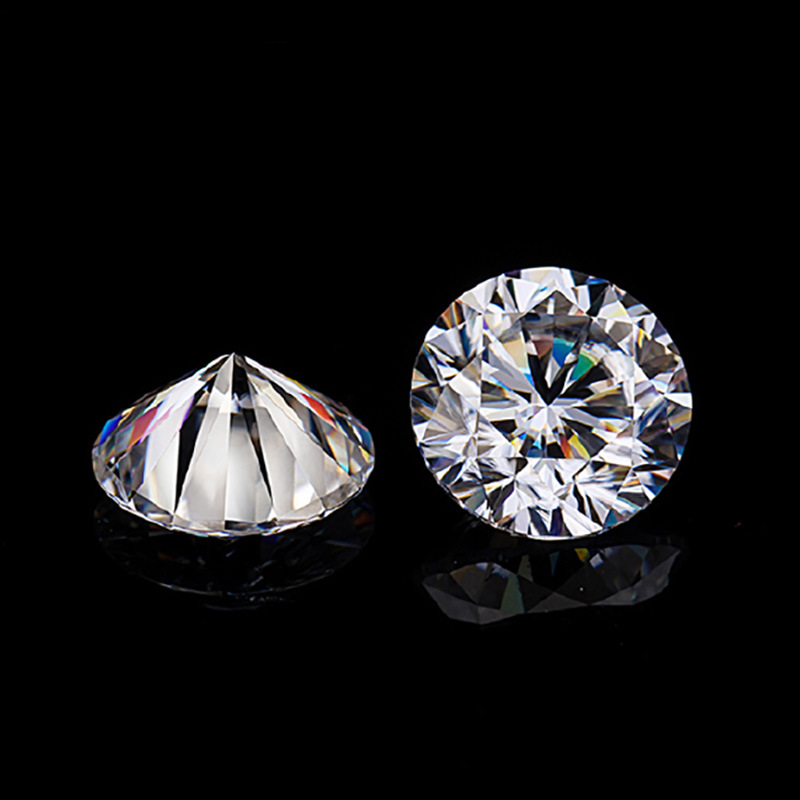 BOEYCJR 1ct F Color Round Brilliant Cut 6.5mm Moissanite Loose Stone VVS1 Excellent Cut 3E Grade Jewelry Making Stone Engagement