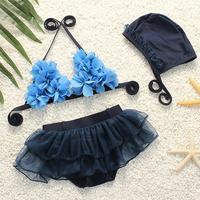 3PCS Set Fancy Infant Baby Girls Swimwear Toddler Bathing Suit Applique Lace Bikini Beautiful Bikini Infant