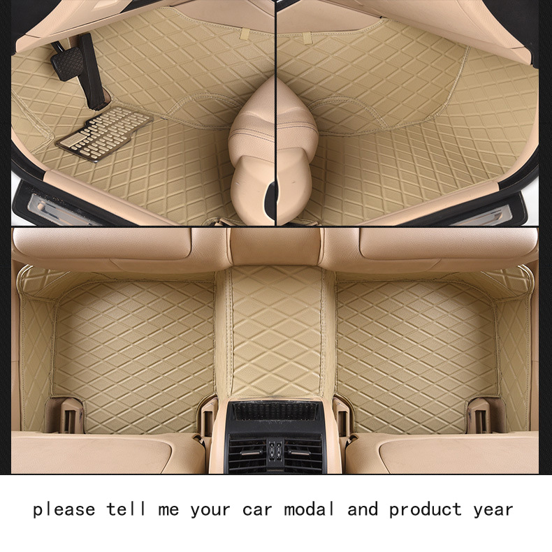 for audi A4 firm pu leather Wear-resisting Car floor mats black Non-slip custom made waterproof car floor Carpets easy clean pu leather 5 7 seats car rear trunk mats backrest pad for new carens waterproof wear resisting easy clean