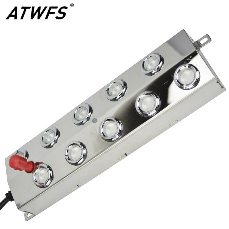 ATWFS 10 Testa 5 KG Umidificatore Ad Ultrasuoni Mist Fogger del Creatore Della Fontana In Acciaio Inox Ad Ultrasuoni Nebulizzatore Atomizzatori