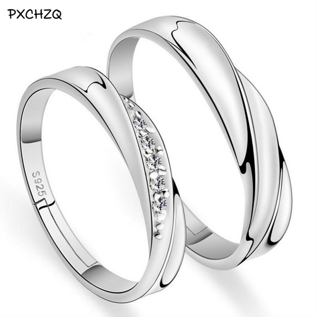 New Listing opening couple rings ripple simple wedding ring male and